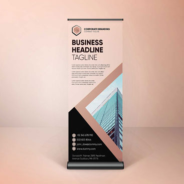 Corporate Branding Rollup Banner