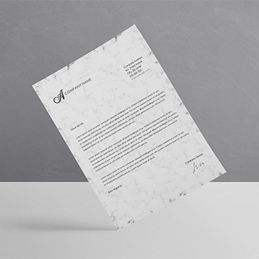 Corporate Branding Letterhead